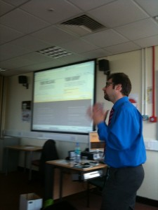Dr Tristram Hooley talking about blogs