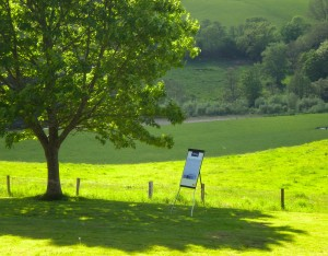 The outdoor classroom in the Brecon Beacons