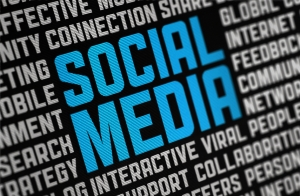 Social media on electronic display