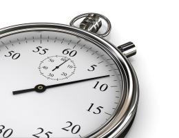 Analogue stopwatch