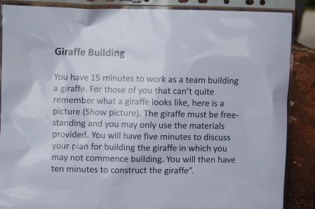 How to build a giraffe!