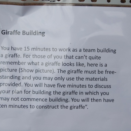 How to build a giraffe!